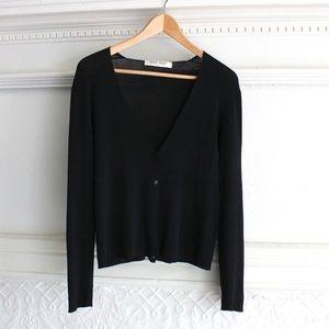 Miu Miu Prada Button Up V-Neck Cardigan Sweater